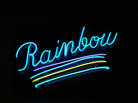 sign inside Rainbow Ballroom