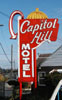 Capital Hill Motel sign