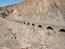 retaining walls north of Yreka, CA
